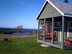One of our 5 camping cabins at Hideaway Campground Cape Breton, Nova Scotia