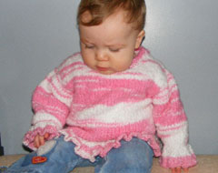 Baby Sweaters hand knitted in Cape Breton