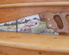 Hand Painted Saws and other Nova Scotia Crafts