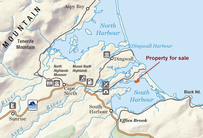Land for sale off the Cabot Trail