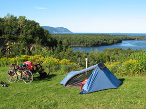 While cycling the Cabot Trail Relax at the Hideaway Campground your midway  point on the Cabot Trail Cape Breton, NS
