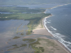 The Northern Atlantic Ocean coastline of Aspy Bay,  NS. has  warm waters, 9 miles of beach & 4 harbours.