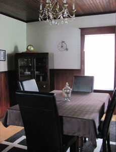 Dining Room of Nova Scotia Cottage accommodation on the Cabot Trail